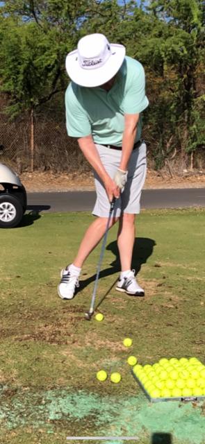 Post lag shot golf swing